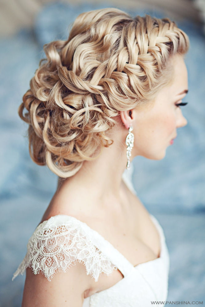 Attractive Braided Wedding day Long Blonde Women Hairstyles for Bride 2017