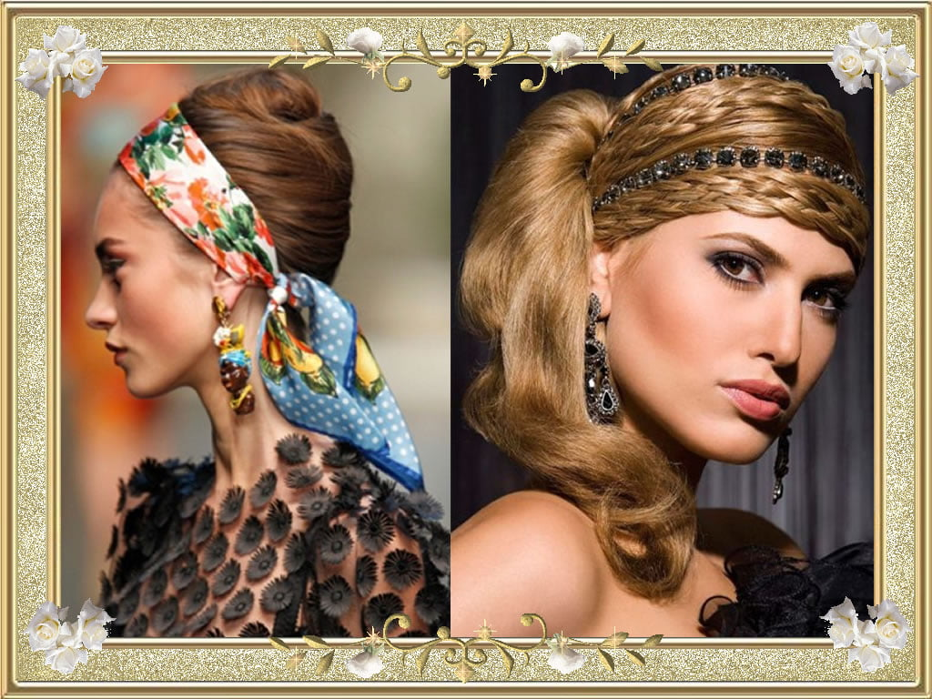 Beautiful Bandana Hairstyles Brown Braided Hair