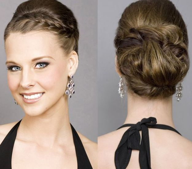 Beautiful Bun Braided Hairstyles 2016-2017