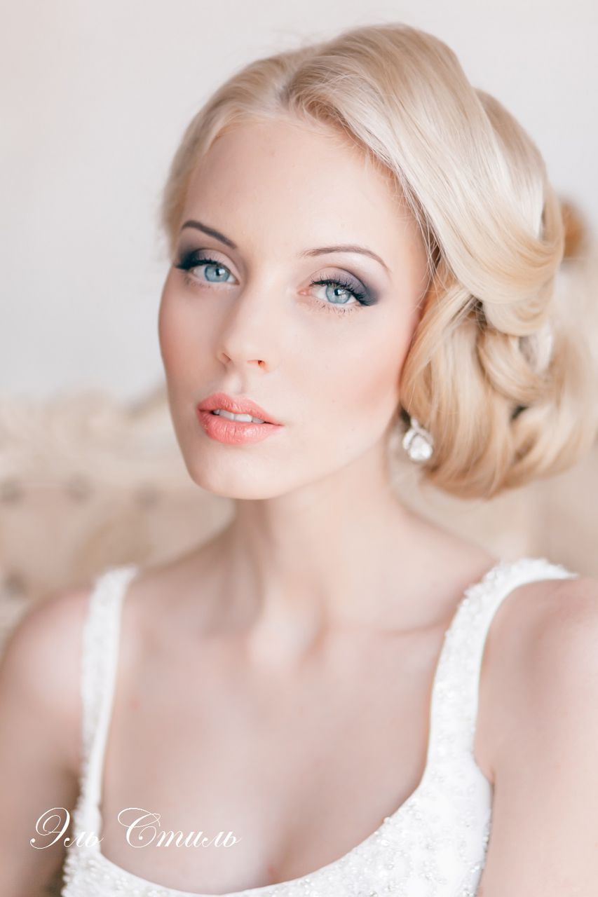 Beautiful Wedding day Blonde Women Hairstyles for Bride 2017