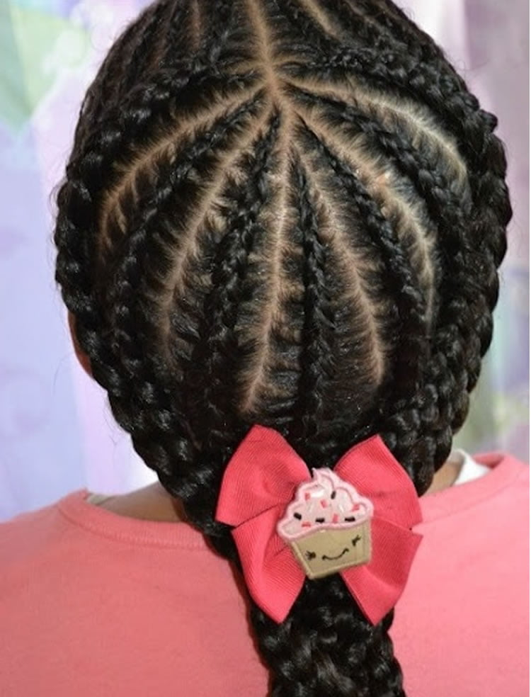 Fashion braids hairstyles for black girls