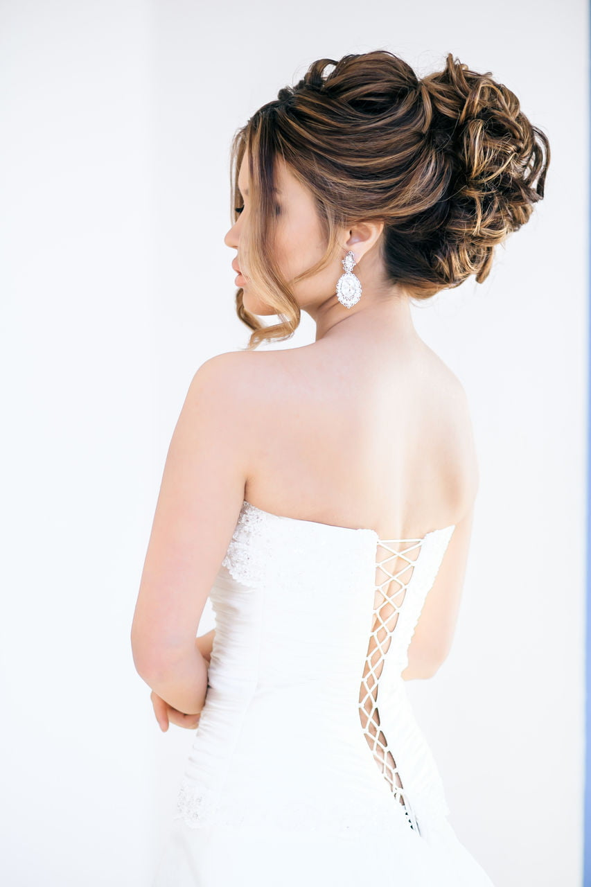 Glamorous Two tone Wedding day Bun Black Hairstyles for Bride black Hair 2017