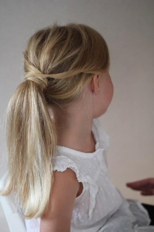 Litte Girls Ponytail Hairstyles Blonde Hair 2016-2017