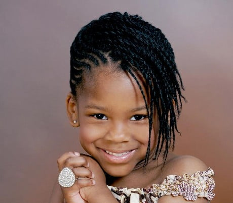 Little African Girls Hairstyles 2016-2017 Medium Braided Hair