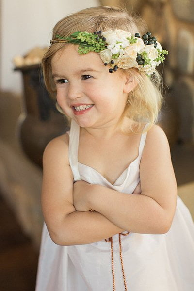 Little Girls Hairstyles 2016-2017 With Flowers Buckle