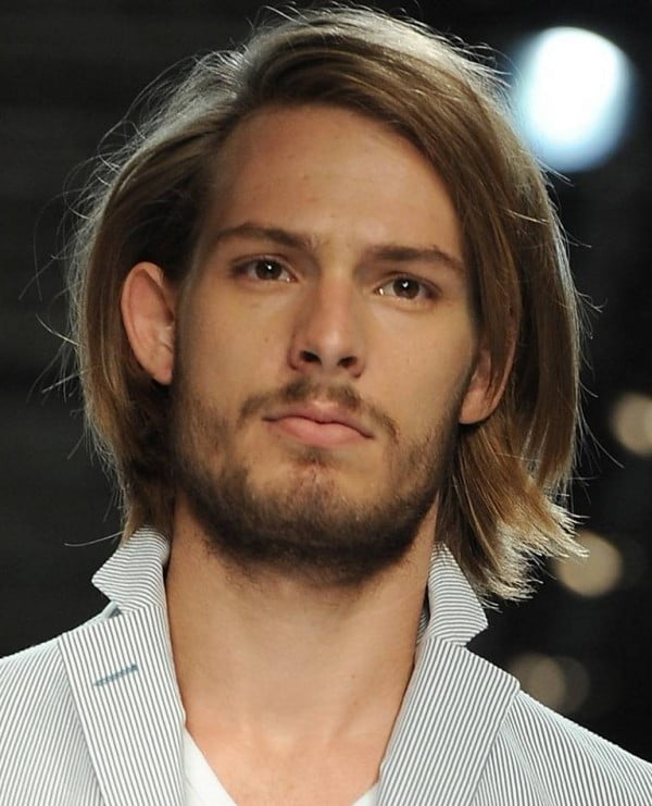 Long Straight Hairstyles and Haircuts for Men 2017