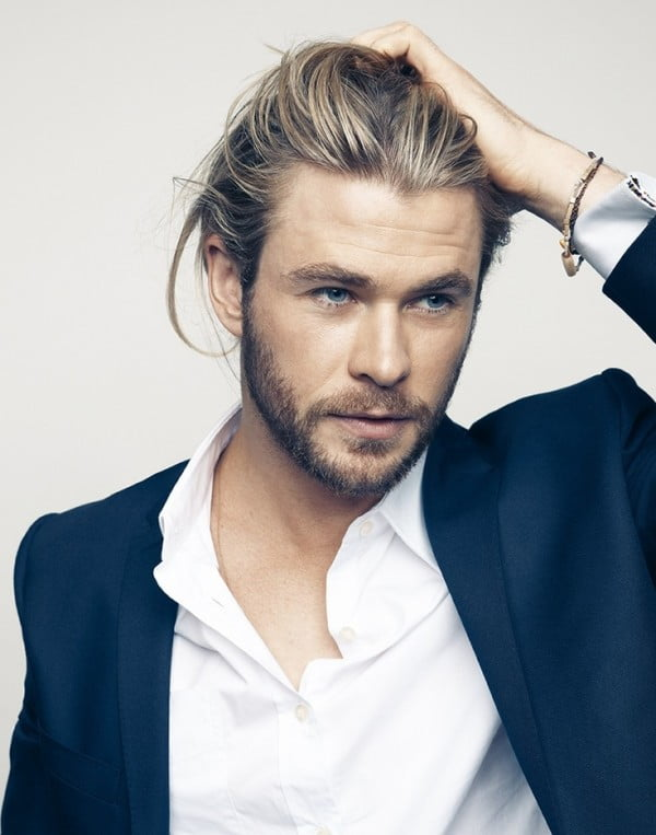Long Straight Hairstyles for Blonde Men 2017