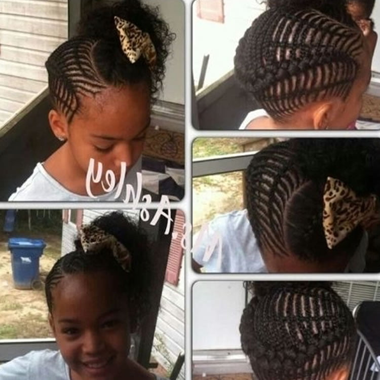 Perfect African Braided Updos For Little Black Girls