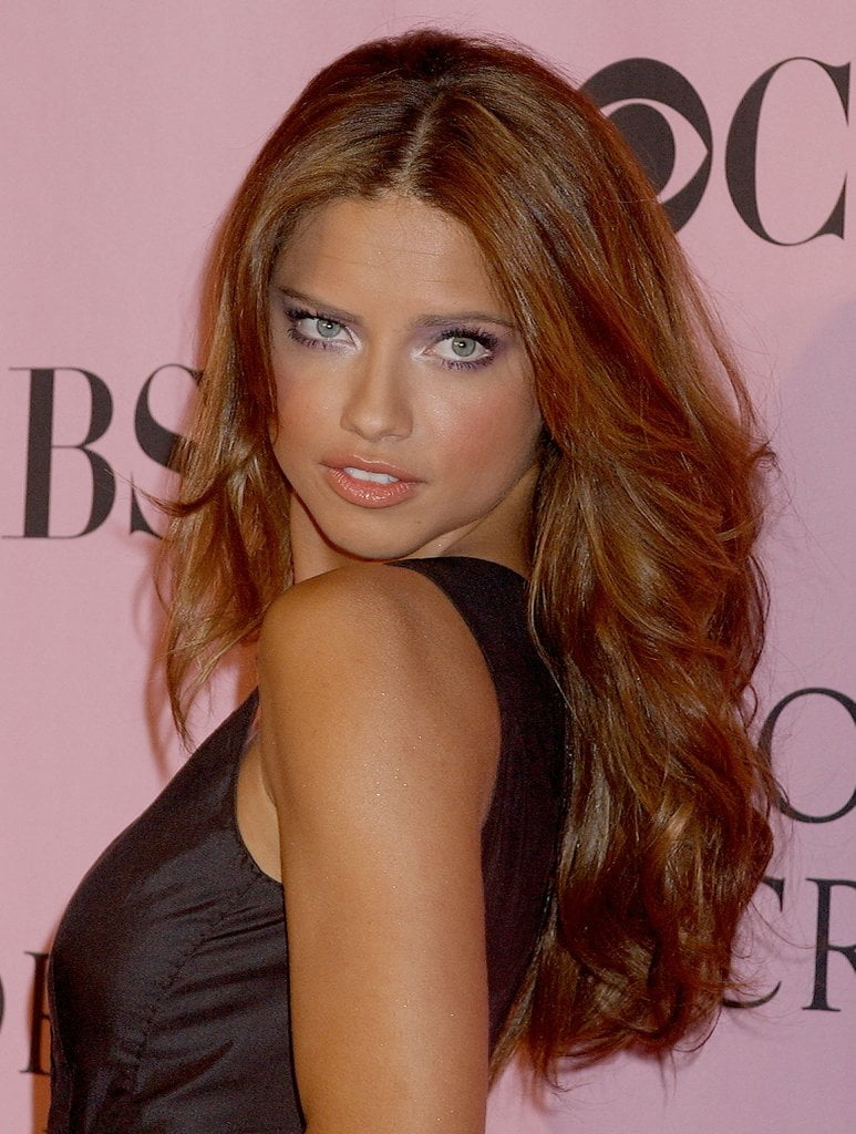 Red hairstyles haircuts 2017 from Adriana Lima