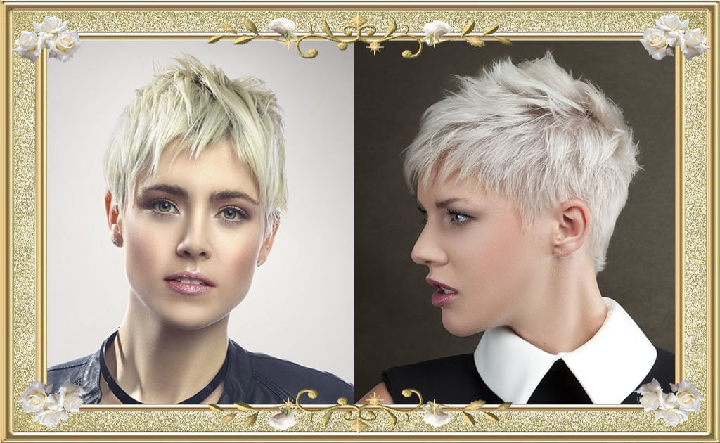 Refulgent Shag Hairstyles Haircuts for very Short White Hair 2017