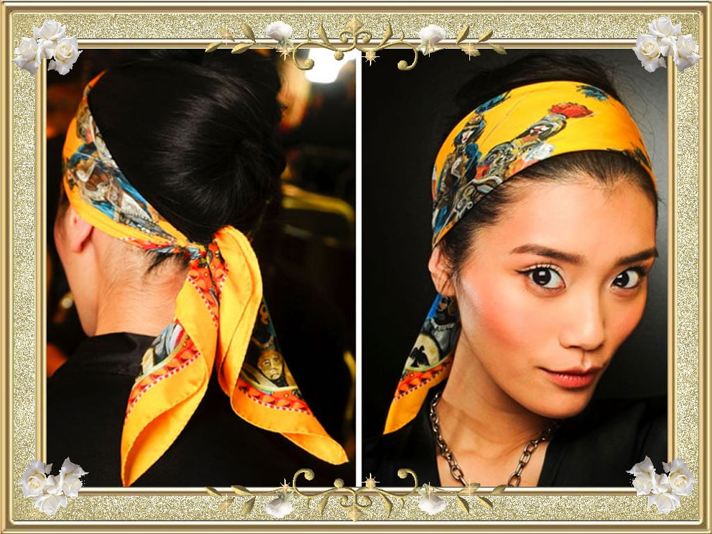 Refulgent Yellow Bandana Hairstyles Black Hair