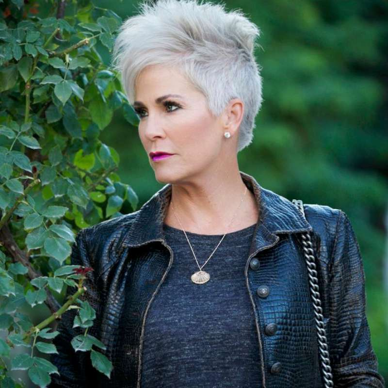 Short Grey Hairstyles over 50 for women