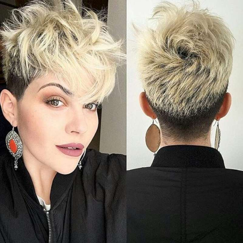 Short Grey Messy Hairstyles for Women 2017