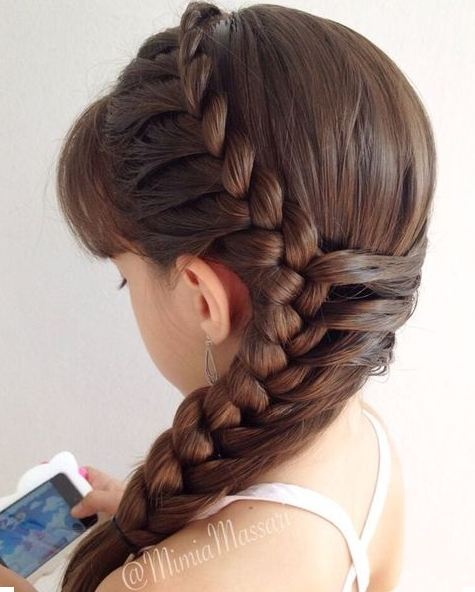 Braided Hairstyes for Girls kids 2016-2017 2