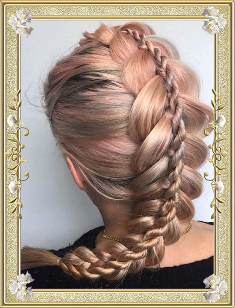 2017 Stacked Dutch Braided Hairstyles