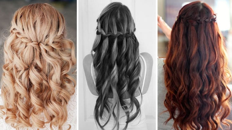 2017 Waterfall Braid hairstyles
