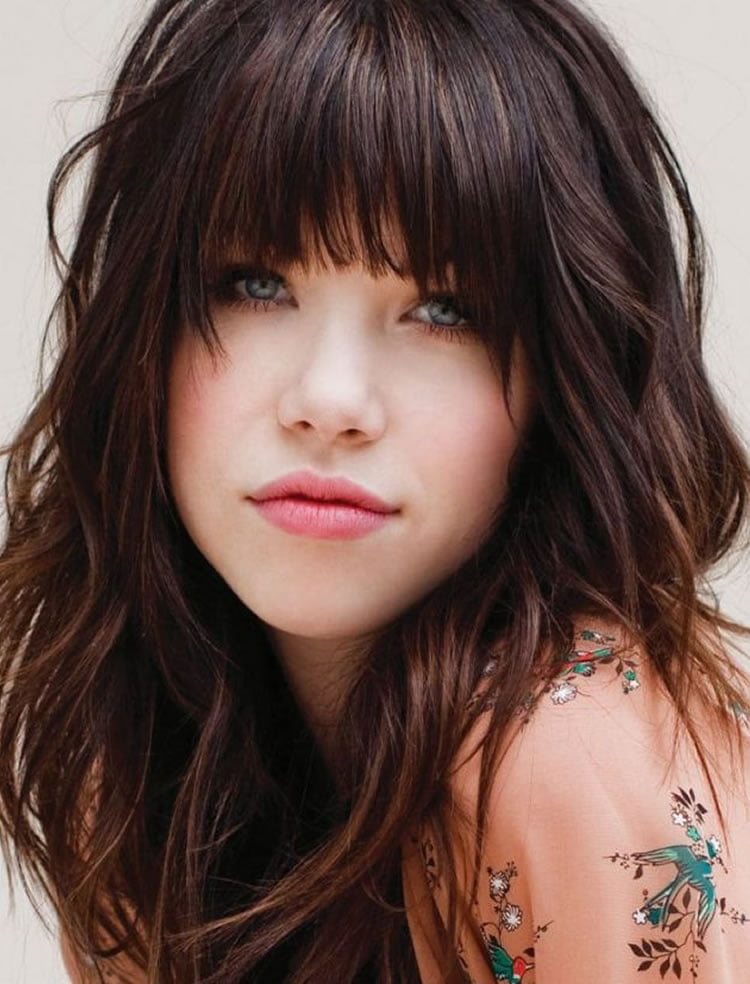 Beautiful medium hairstyles with bangs
