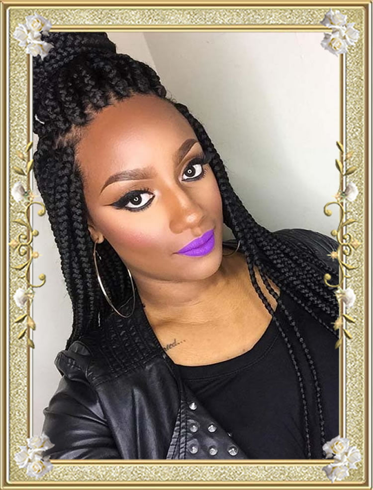 Big box braids for black women