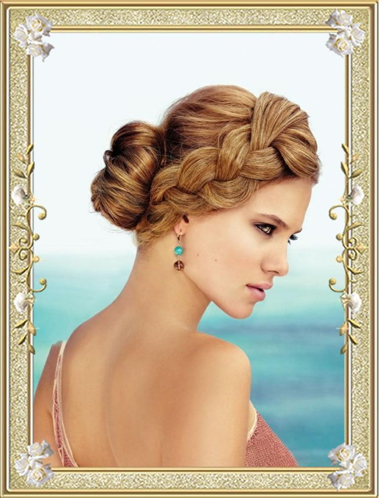 Blonde Hair Braided Bun Hairstyles for Women