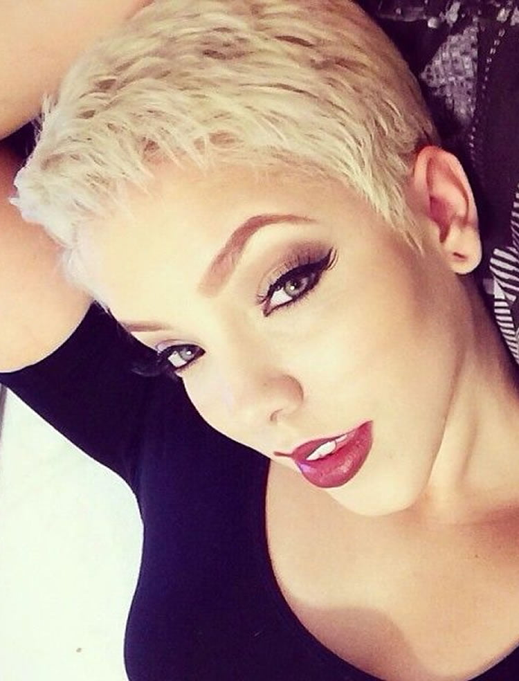 Blonde Hair Color Pixie Haircuts For Long Faces Hairstyles