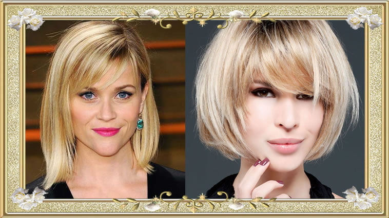 Blonde Medium Hairstyles with Bangs 2017
