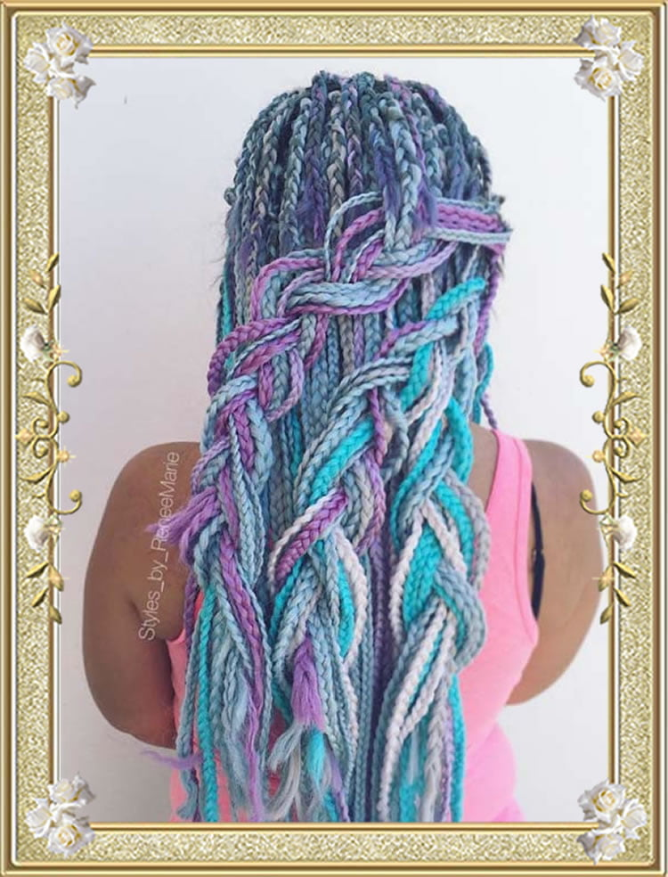 Box Braids 2017 Colored Braided Hairstyles