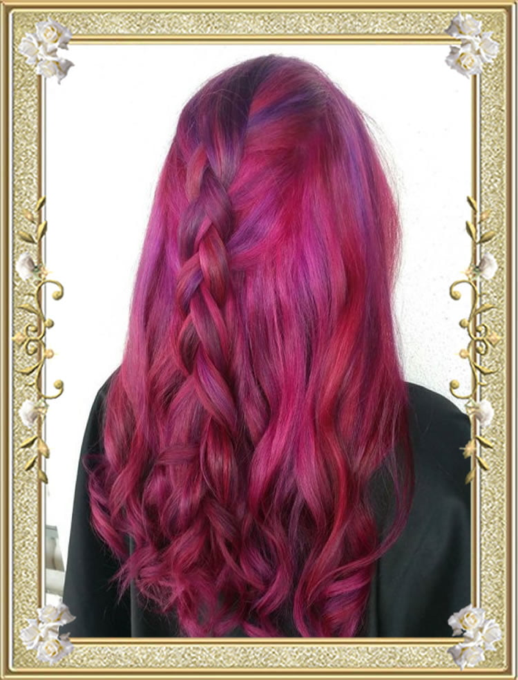 Braided Hairstyles Purple Highlights
