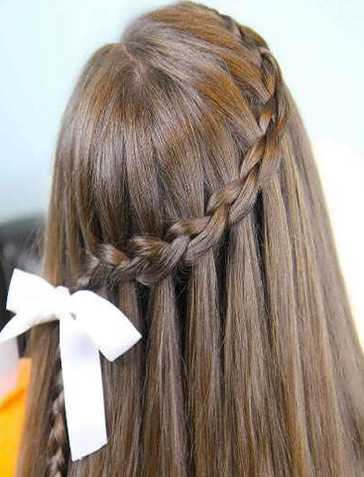 Braided hairstyles around the head waterfall
