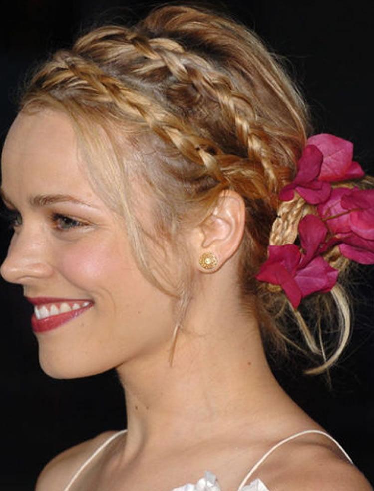 Charming Blonde hair crown braids hairstyles