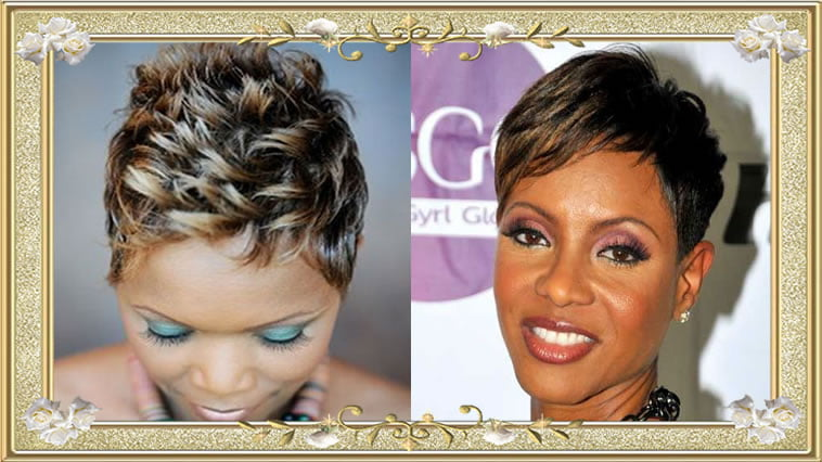Chocolate Short Hairstyles for African-American Black Women