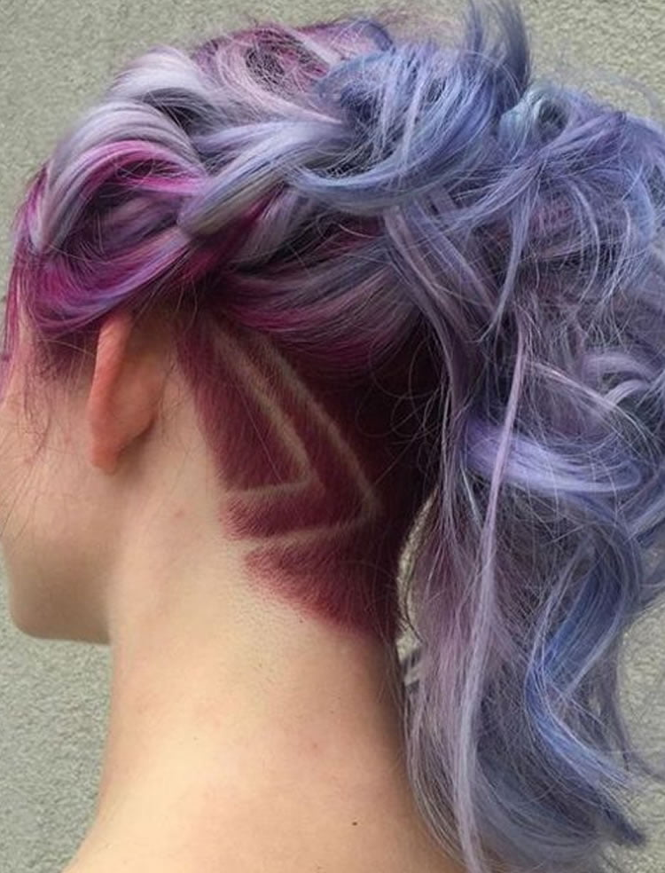 haircut styles for women with long hair undercut hairstyle ideas with shapes for s hair in 8984 | Curly Long Undercut hairstyles for girls
