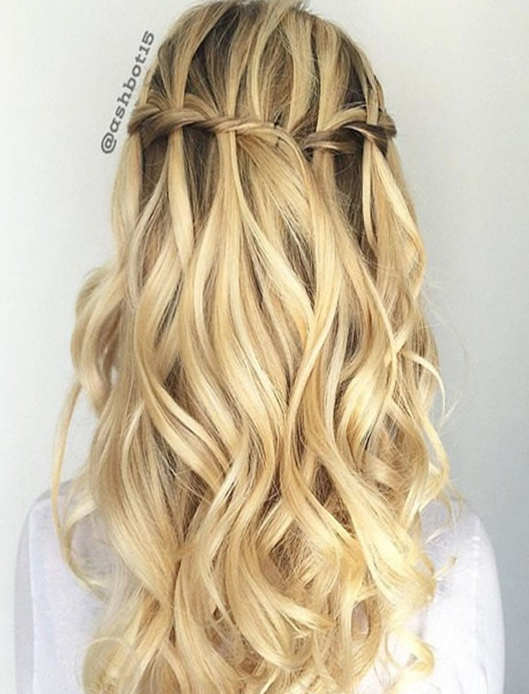 100 Chic Waterfall Braid Hairstyles – How to Step by Step Images & Videos – Page 3 – HAIRSTYLES