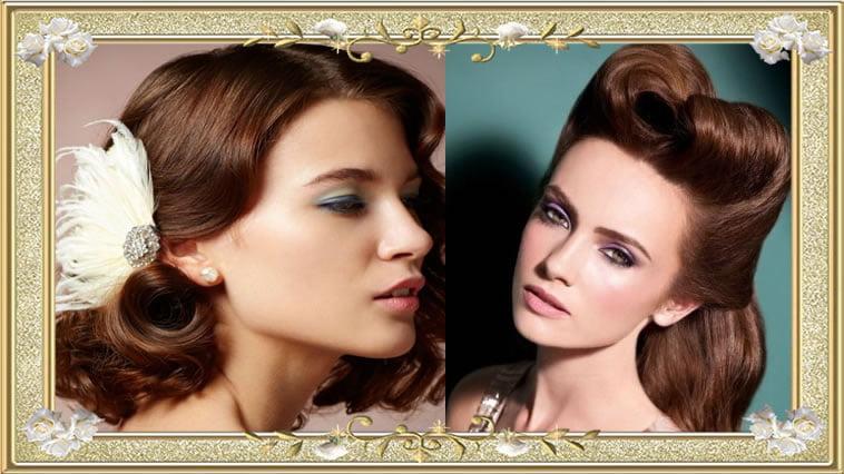 Cute Vintage Hairstyles Brown Hair