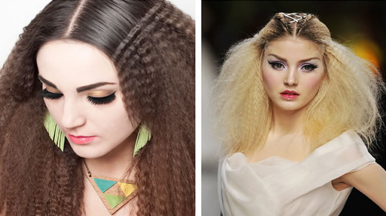 Cute autumn 2017 crimped hairstyles