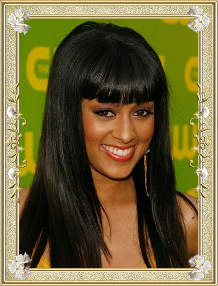 Excellent Long Black Hairstyles for Black Women with Bangs