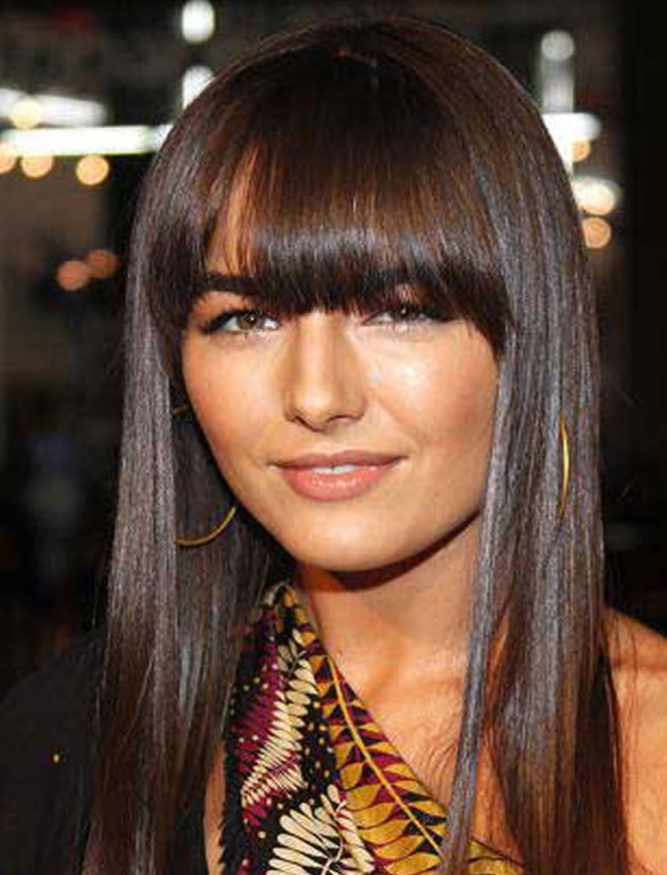 100 Cute Hairstyles With Bangs For Long Round Square