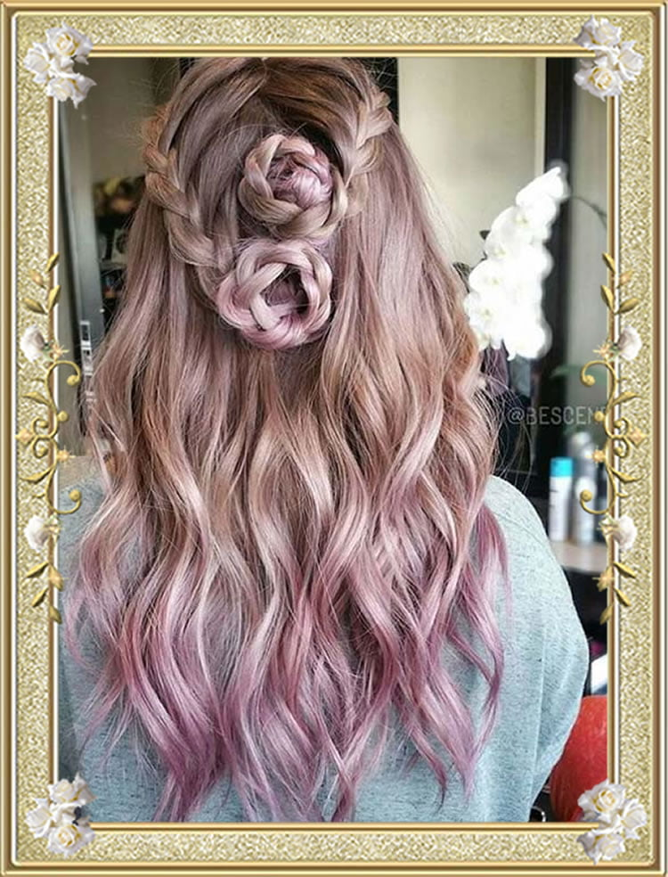 Braided Roses Hairstyles for Women