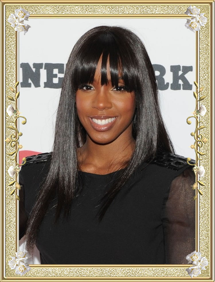 Fabulous Long Hairstyles with Bangs for Black Women