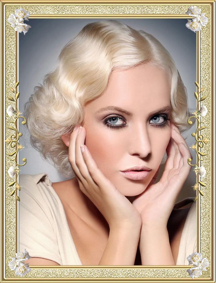 Fabulous Vintage Hairstyles Medium White Wavy Hair