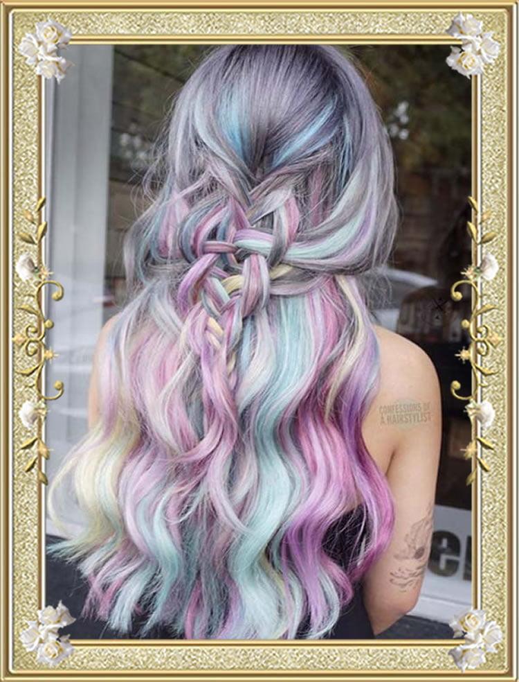 Fishtail Braided Hairstyles Rainbow 2017