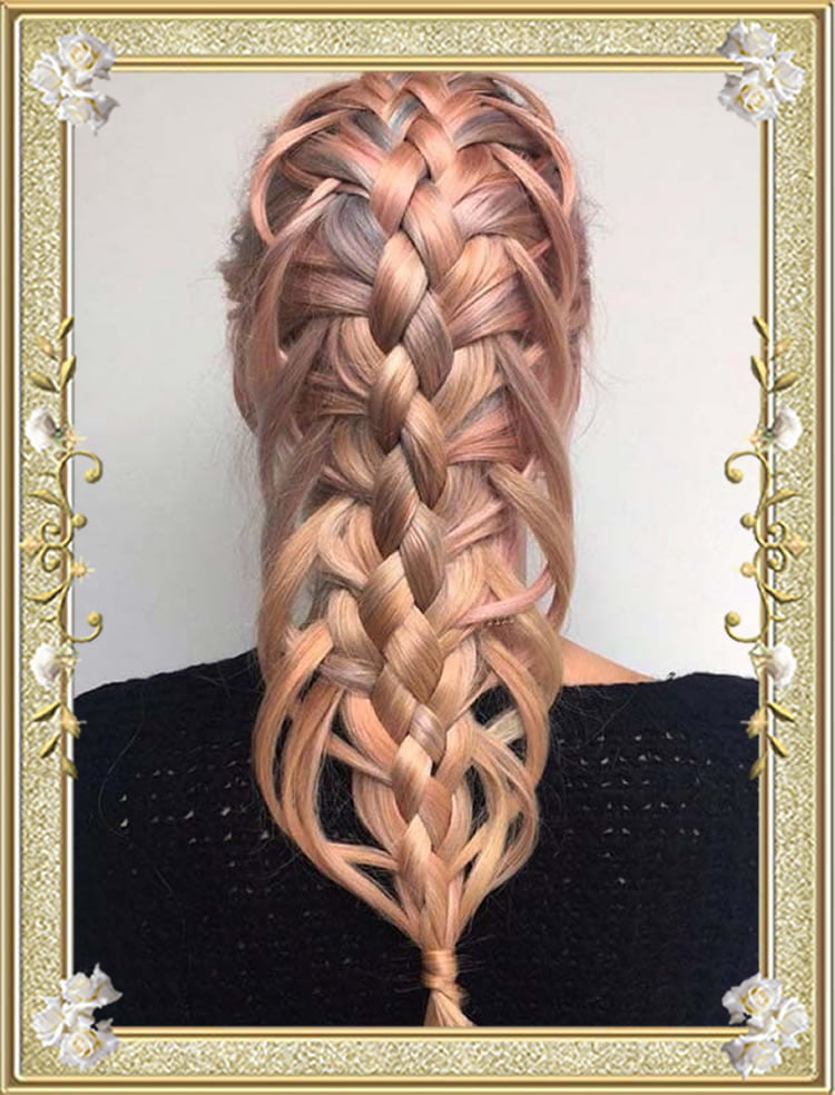 Five Strand Feather Braided Hairstyles