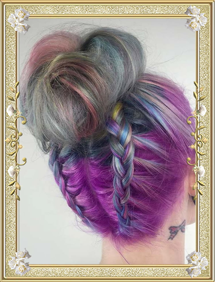 French Braided Hairstyles Top Knot