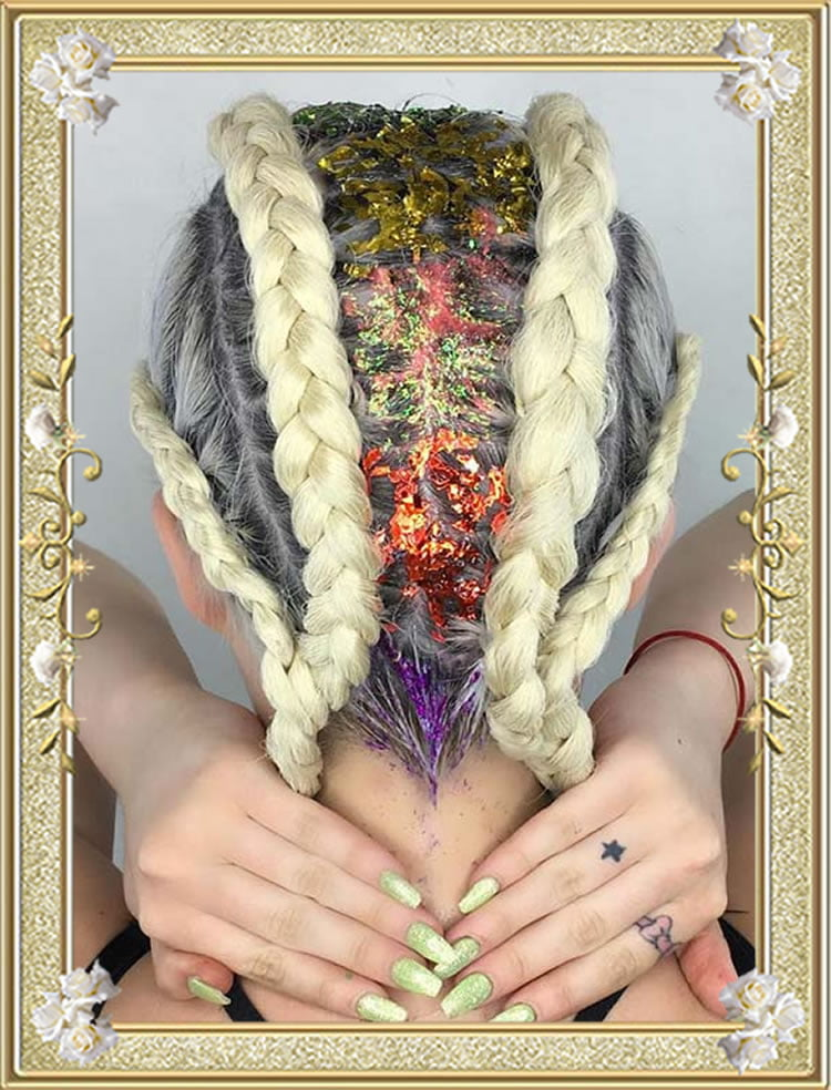 Glitter Parts Crownrows Braided Hairstyles