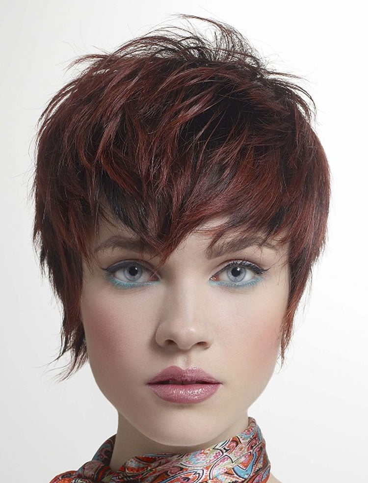 Glorious Pixie short brown straight hairstyles
