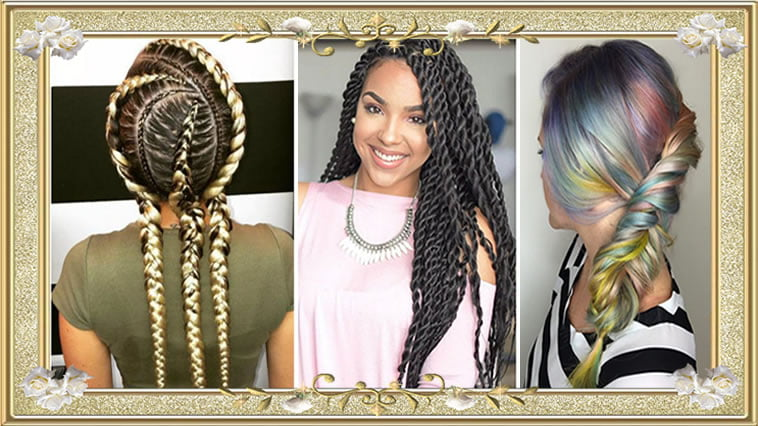 Great Colored Box Braids Hairstyes for Black Women