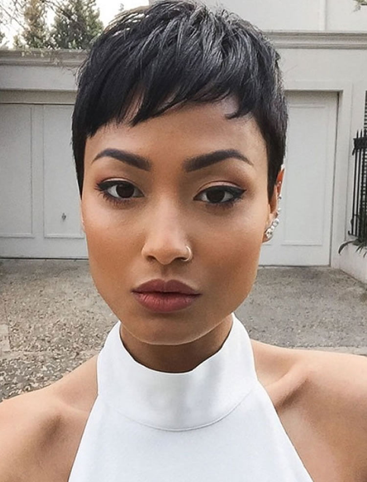 Great Pixie style haircuts for black women