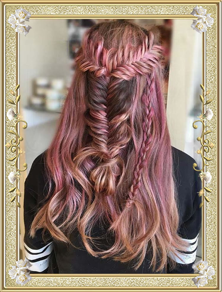 Half Up Fishtail Braided Hairstyles
