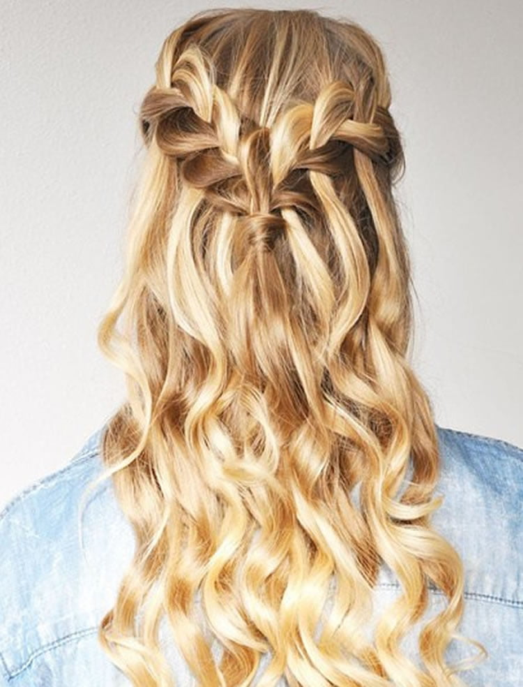 100 Chic Waterfall Braid Hairstyles - How to Step by Step Images & Videos - Page 6 - HAIRSTYLES