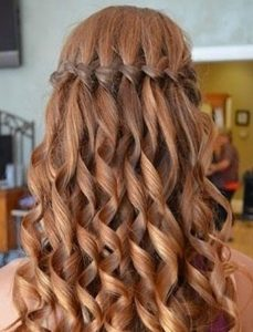 Lovely waterfall plait step by step