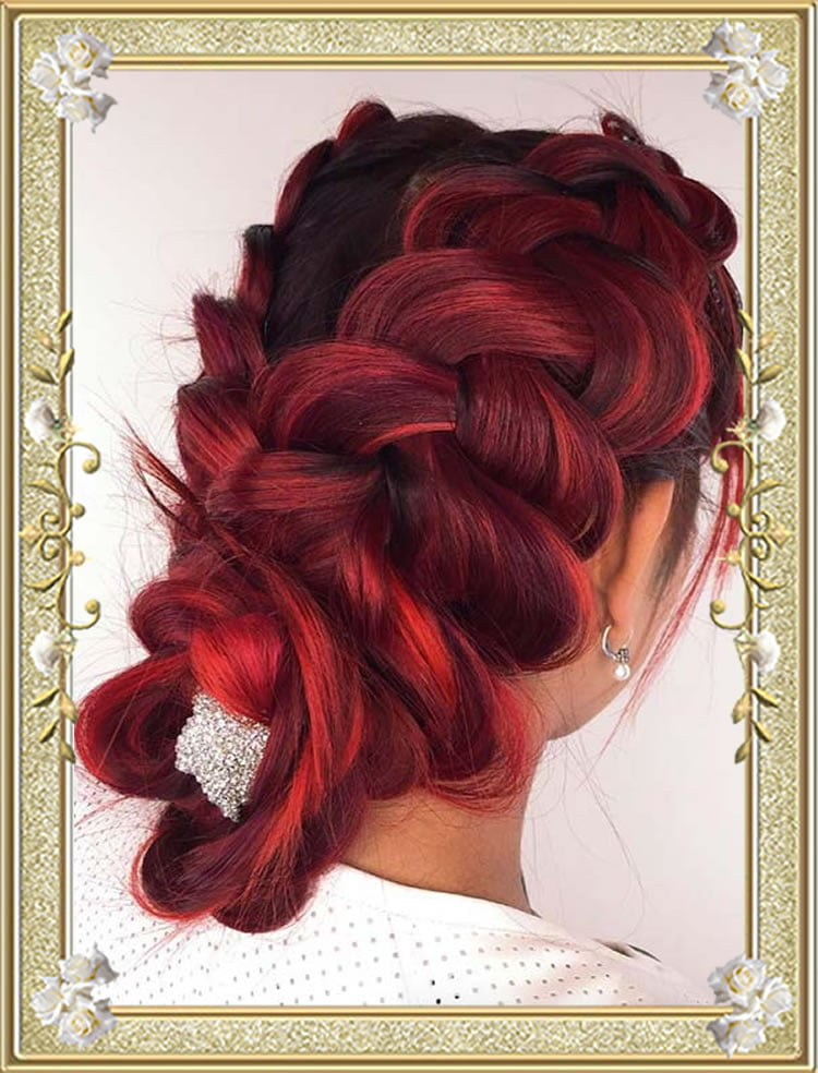Pulled out Dutch Colored Braided Hairstyles
